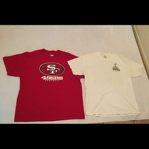 Vintage 49ers men's shirt lot .Super Bowl XLVII